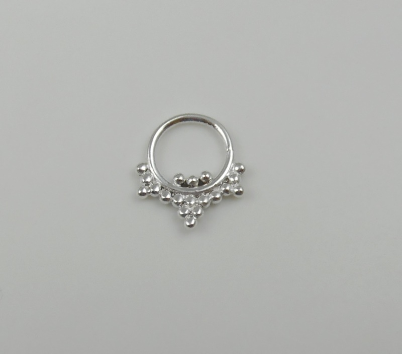 925 sterling silver septum ring indian nose ring septum
